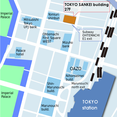 map of Tokyo office
